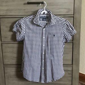 Ralph Lauren Sport, Navy Gingham, Button up Shirt